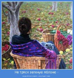 когда яблоко созреет, оно упадет само.