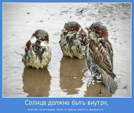 если же только ждать тепла от других, можно и замерзнуть...