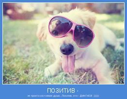 не просто состояние души...Позитив, это - ДИАГНОЗ! ;)))))