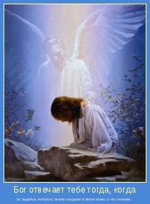 ты задаёшь вопросы своим сердцем и молитвами, а не словами..