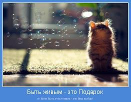 от Бога! Быть счастливым - это Ваш выбор!