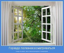 в мир за окном ,чем в окна мониторов и телевизоров