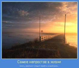 понять, какой мост следует перейти, а какой сжечь...