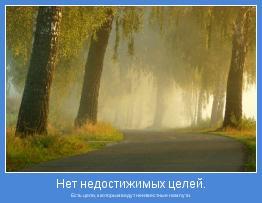 Есть цели, к которым ведут неизвестные нам пути.