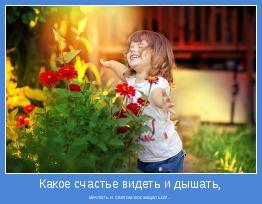 мечтать и светом восхищаться!..