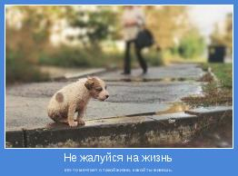 кто-то мечтает о такой жизни, какой ты живешь.