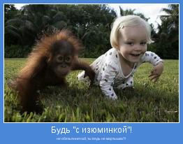 не обезьянничай, ты ведь не мартышка?!