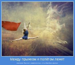 сомнение.Прыгни с уверенностью, и ты обретёшь крылья.