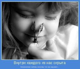 безграничная любовь ко всему, что нас окружает...