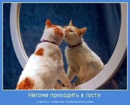 к зеркалу с лохматыми и небритыми мыслями.