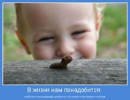 любопытство,выдержка,доброта и готовность выглядить глупым!