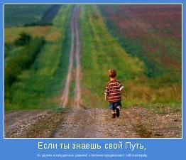то удачи и неудачи в равной степени продвигают тебя вперёд.