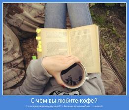 С сахаром, молоком, корицей? – Больше всего люблю… с книгой.