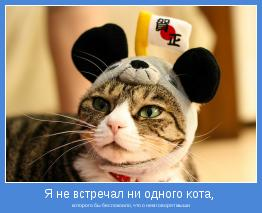 которого бы беспокоило, что о нем говорят мыши